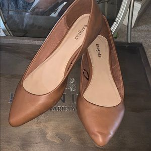 Camel Flats From Express, Like New! Sz: 6